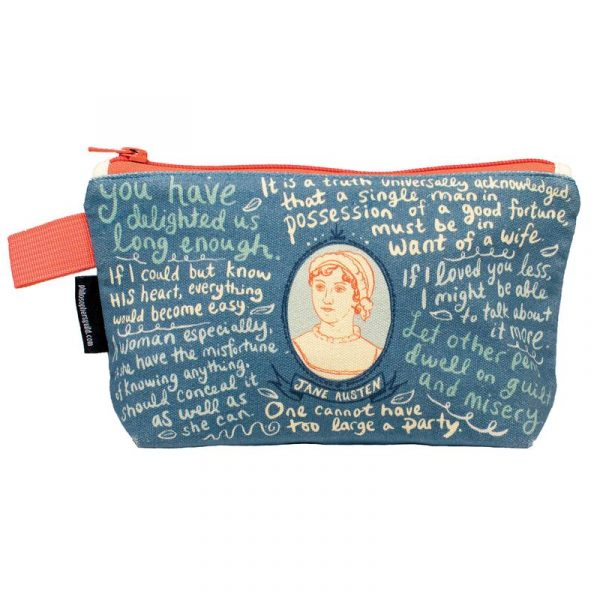 jane austen quotes bag and pouch make up bag and pencil case size - jane austen online gifts