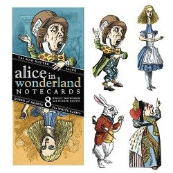pack of alice in wonderland birthday cards - quotable notable alice cards