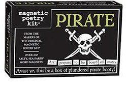 Pirate magnetic Poetry Kit - Magnetic poetry kits UK stockists - The Costume Rooms Bude Cornwall