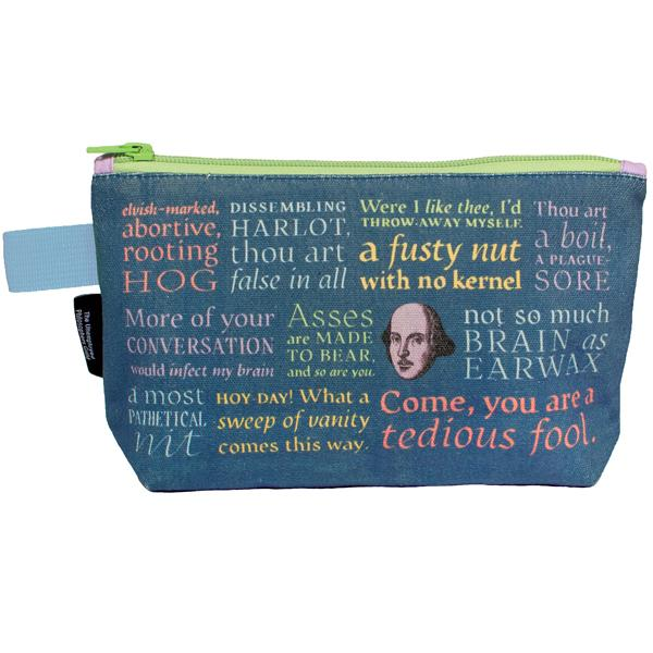 shakespeare insults bag pouch pencil case - can you get gifts with shakespeares insults on it