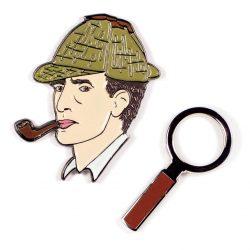 large sherlock holmes pins - sherlock paraphenalia at The Costume Rooms Sherlock Holmes section