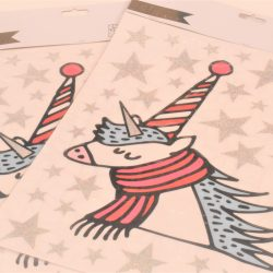 can you get a unicorn designed for chirstmas - paper poetry stickers online and UK