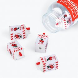 cherry stationery online - rubbers in the shape of milkshake cartons by mustard statinonery