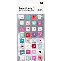 can you get stickers of numbers 1 to 31 for the days of the month - paper poetry style your own agenda range