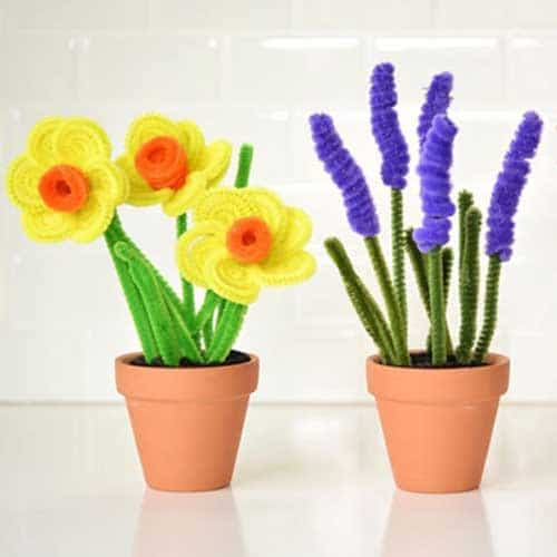 can you make daffodils or lavendar from pipe cleaners - pipe cleaner flower ideas