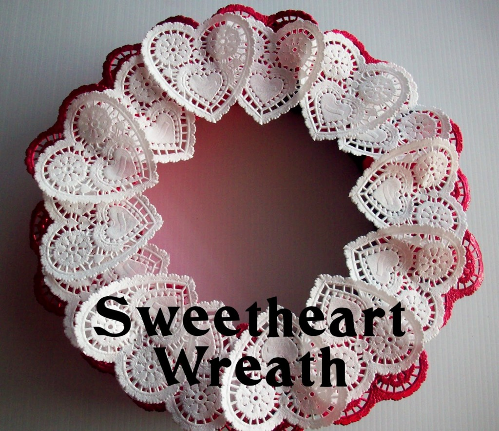paper hear wreath idea - craft projects for valentines - paper poetry craft ideas