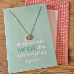 mothers day - necklace - button - cute