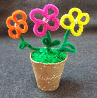 fun homemade flowers for mother's day - a good place for online craft ideas