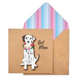 costume rooms - dalmatian - card