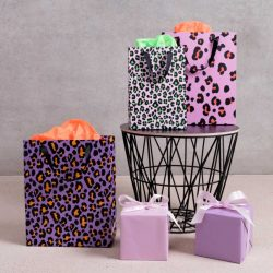 costume rooms - acid leo - gift bags - wrapping paper
