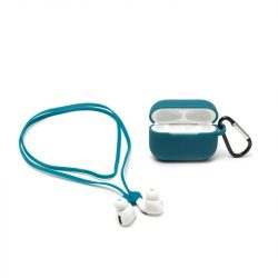 airpods silicone case and magentic cord - teal coolour by legami