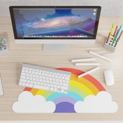 rainbow mouse mat - is there a fun stationery shop in cornwall