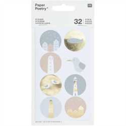 lighthouse and seagull stickers - beach themed stationery