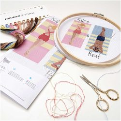 Seaside sunbathing personalised embroidery kits - rico deisgns